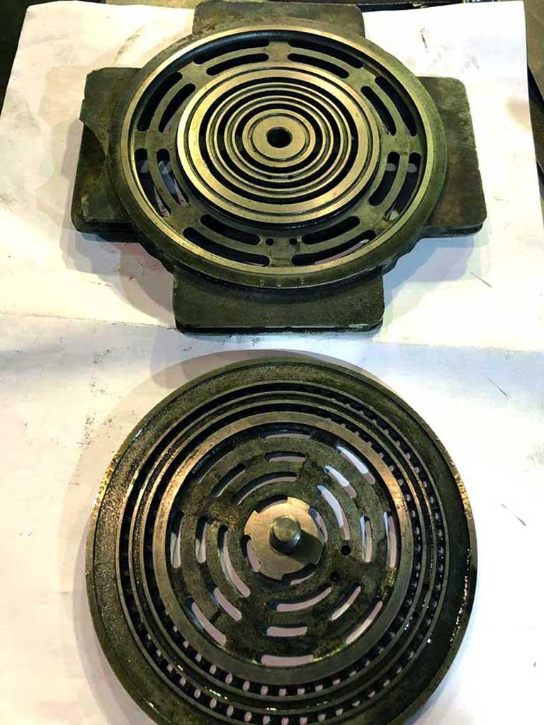 assembled compressor valves